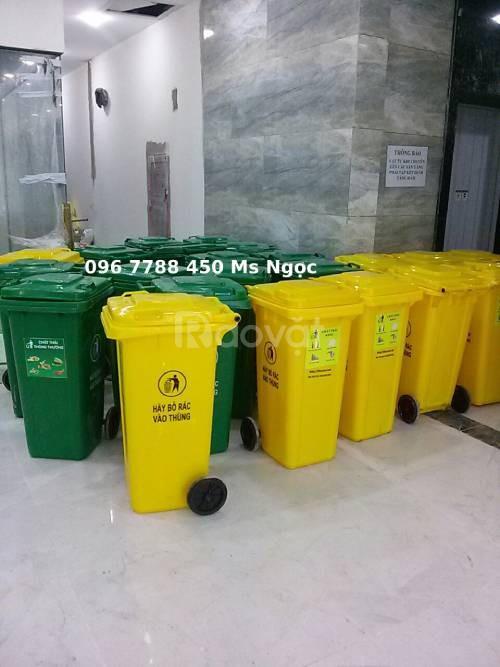 Thùng rác gia đình môi trường 120 lít giá sỉ