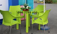 Bàn ghế nhựa quán cafe các loại giá rẻ
