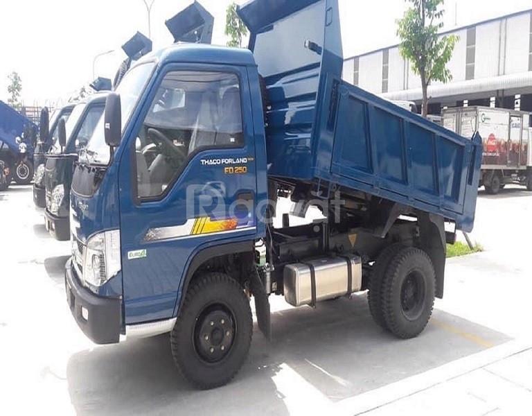 Xe Thaco FD250.E4 Tải trọng 2,49 tấn, thùng 2,1 khối.