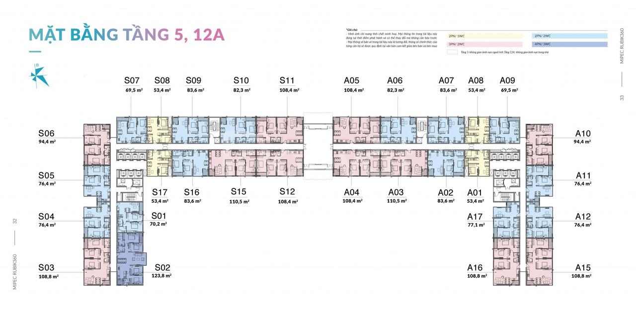 Căn hoa hậu 4 phòng ngủ dự án Mipec Rubik 360