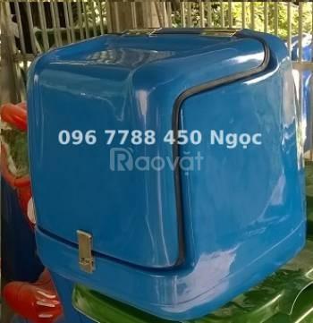 Thùng nhựa chở hàng, ship hàng sau xe máy