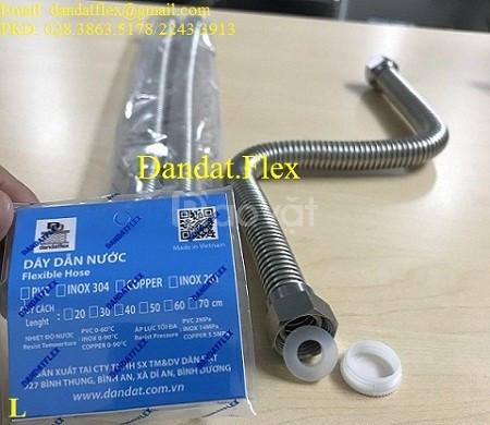 Dây cấp nước mềm inox, ống mềm dẫn nước nóng lạnh, dây dẫn nước inox