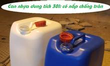 Can nhựa HDPE 30l, can nhựa đựng hóa chất