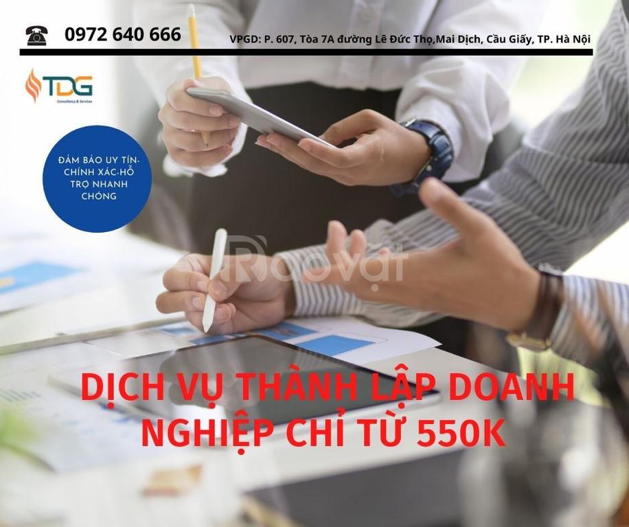 Dịch vụ thành lập doanh nghiệp trọn gói tại Hà Nội (ảnh 1)