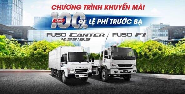 Khuyến mại 100% phí trước bạ xe Fuso 6.5 tải trọng 3.4 tấn