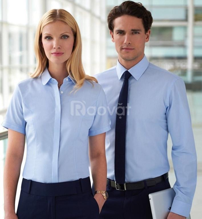 Xưởng may áo sơ mi nam, nữ đồng phục giá tốt