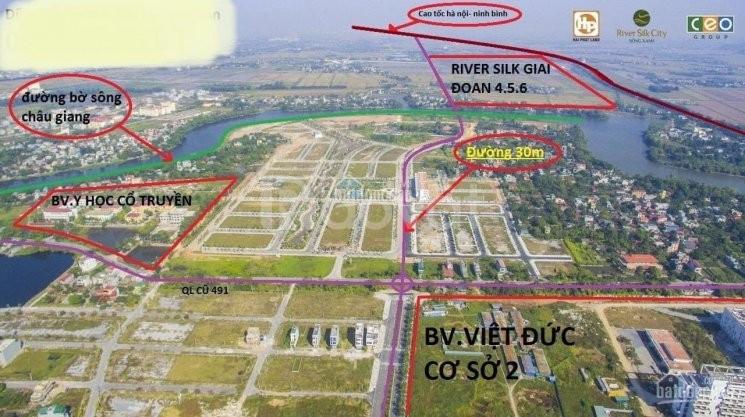Bán lô đất nền sau bệnh viện Việt Đức cơ sở 2 lô góc 2 mặt tiền