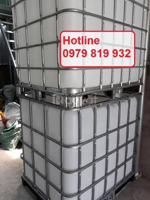Cung cấp thùng nhựa vuông, thùng nhựa IBC 1000l có khung sắt