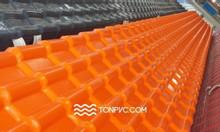 Ngói nhựa ASA/PVC 04 lớp, màu cam, dày 2,5mm - TONPVC