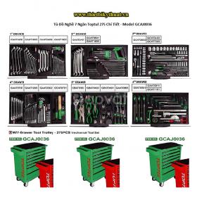 Tủ đồ nghề 7 ngăn toptul 275 chi tiết – model gcaj0036