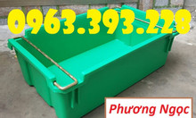 Thùng nhựa đặc có quai sắt, thùng nhựa công nghiệp, thùng nhựa A2