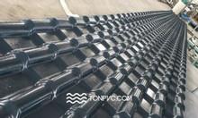 Ngói nhựa ASA/PVC 04 Lớp, màu xám đen, dày 2,5mm TONPVC