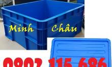 Thùng nhựa có nắp, thùng nhựa đựng vật tư, thùng nhựa đựng đồ cơ khí