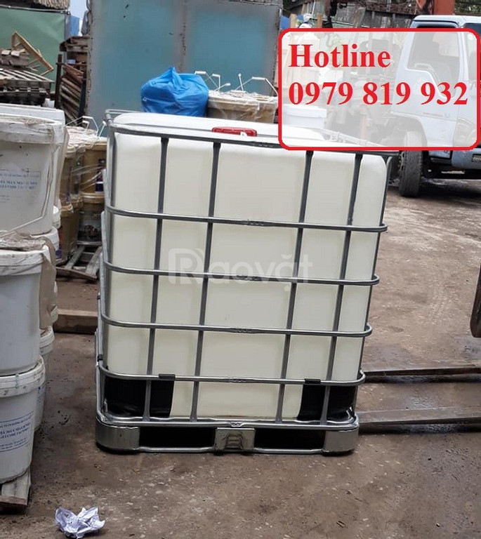 Bán thùng nhựa vuông IBC 1000 lít đựng hóa chất