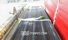Tôn Nhựa ASA/PVC 04 Lớp, 5 sóng vuông, màu Xám Đen, dày 2mm; 2,5mm; 3m