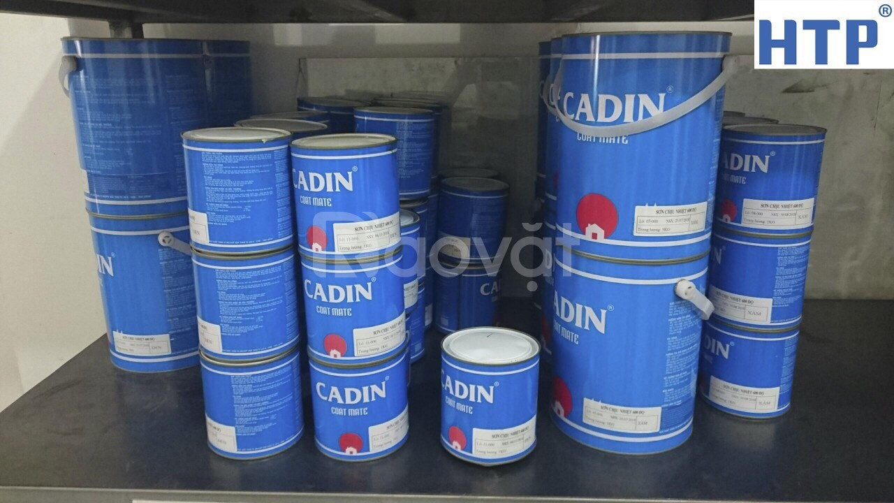 Đại lý sơn chịu nhiệt CADIN 600 độ màu nhũ bạc