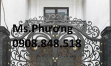 Mẫu cổng sắt uốn nghệ thuật cho biệt thự, nhà phố