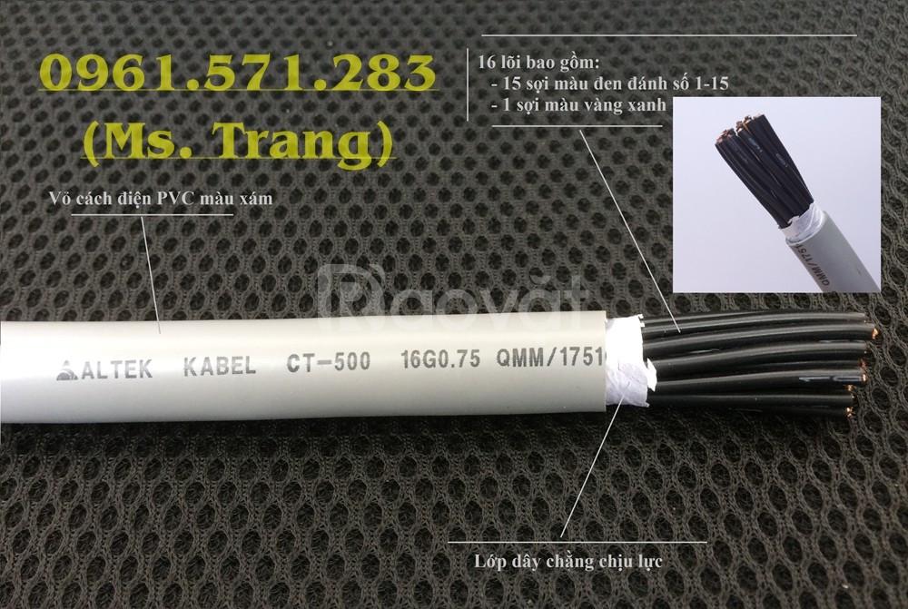 Cáp điều khiển 16 lõi- cáp tín hiệu 16 lõi có lọc nhiễu