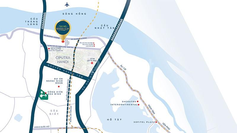 Bán căn hộ 2PN quận Tây Hồ view trực diện sông Hồng