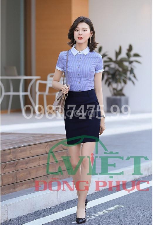 Nhận may áo sơ mi nữ đồng phục đa dạng về chất liệu và kiểu dáng