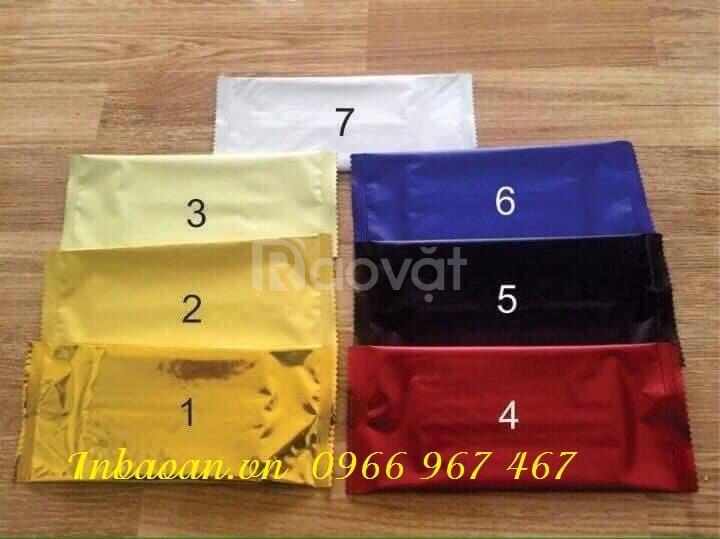In khăn lạnh dùng 1 lần, địa chỉ in khăn ướt, thiết kế vỏ khăn