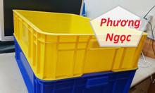 Thùng nhựa cao 15, thùng nhựa đặc HS007, thùng nhựa có nắp