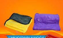 Bộ đôi khăn lau khô vỏ xe