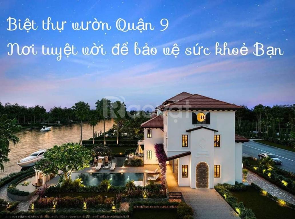 Chiết khấu 5% biệt thự vườn quận 9, Saigon Garden Riverside Village