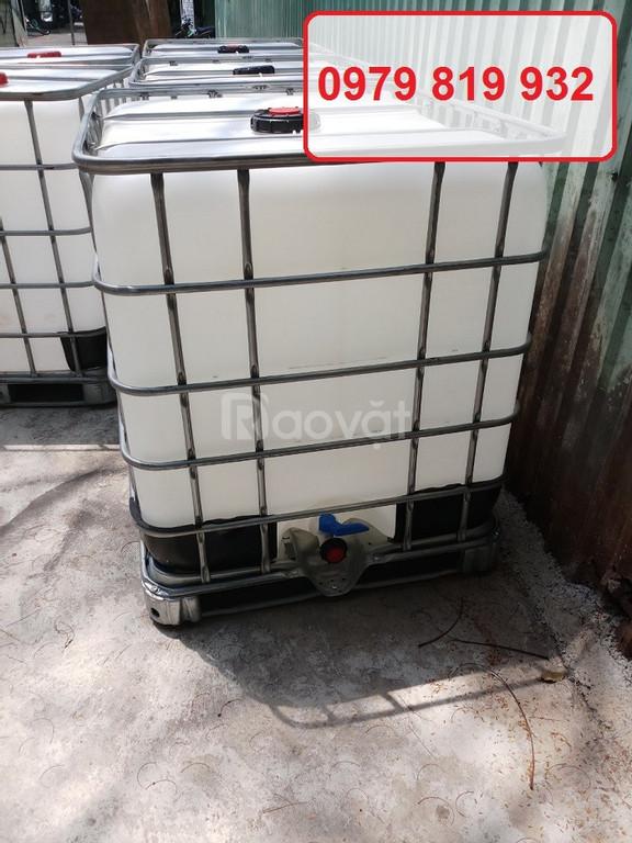 Cung cấp thùng nhựa vuông, thùng nhựa đựng hóa chất dày tank nhựa 1000