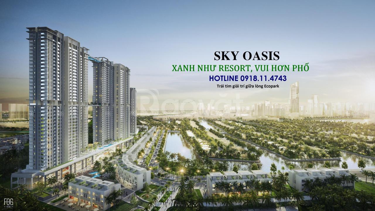 Ra mắt tòa S2 Sky Oasis - Từ 30m2 - 97m2 - Trả góp 0% - LH 0918114743