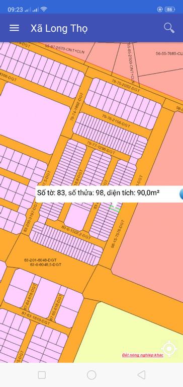 Đất nền 90,0 M2 ở Nhơn Trạch