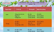 Lịch khai giảng Atlantic tuần 14