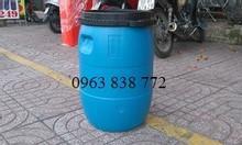Thùng phi nhựa 50 lít đựng hóa chất.