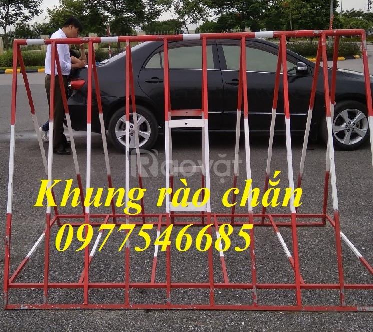 Rào chắn hàng rào có gắn bánh xe, hàng rào di động
