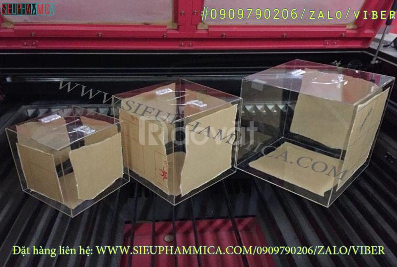 Bán thùng phiếu mica trong, thùng phiếu mica có sẵn, thùng tiền từ