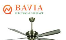Đèn quạt trang trí BAVIA QD0053 quạt 5 cánh sắt