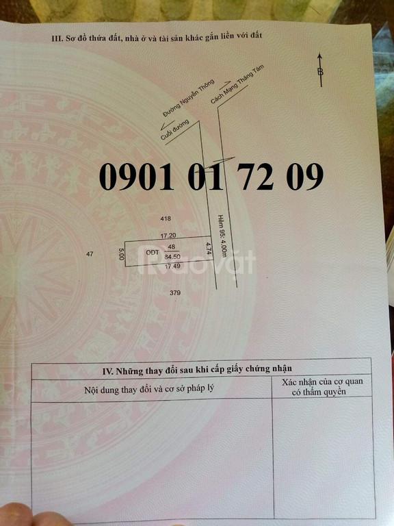 Bán nền hẻm 95, Nguyễn Thông lộ giới 4m đối diện Uỷ Ban Phường An Thới