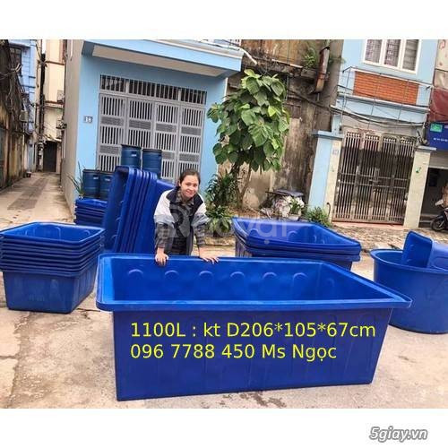 Thùng nhựa 1000 lít nuôi cá cảnh các loại giá rẻ