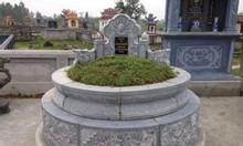Mẫu mộ đá tròn đẹp giá rẻ kích thước chuẩn phong thủy