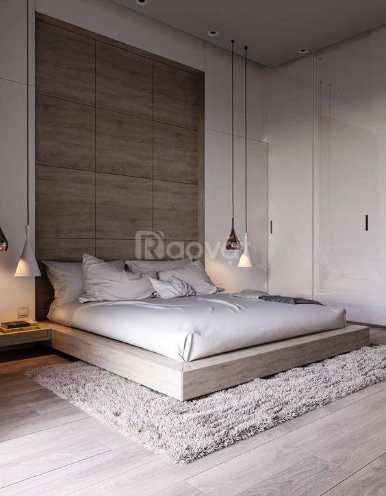 Giường gỗ mdf An Cường