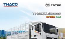 Xe Thaco Auman C160 - TMB, tải trọng 9,1t, thùng dài 7,4m.