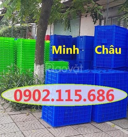 Sọt nhựa có bánh xe, sọt nhựa 5 bánh xe, sọt nhựa kéo hàng, (ảnh 6)