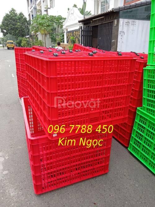 Sóng nhựa lớn 5 bánh xe đựng hàng hóa giá rẻ