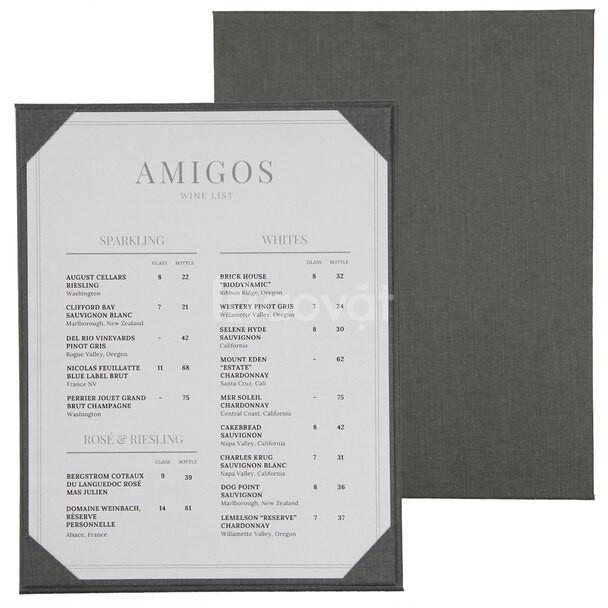Bìa menu vải linen đẹp 2020 (ảnh 4)