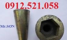 Côn sắt chống thấm ren thô D16- Thi công cốp pha.Côn nhựa lõi thép D12