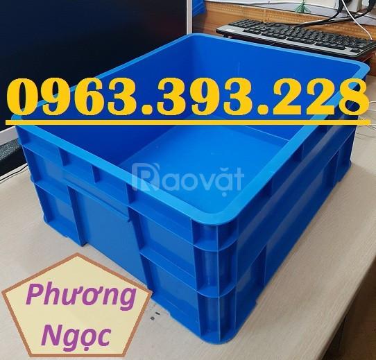 Thùng nhựa đặc B8 có nắp, hộp nhựa B8, khay nhựa đựng đồ