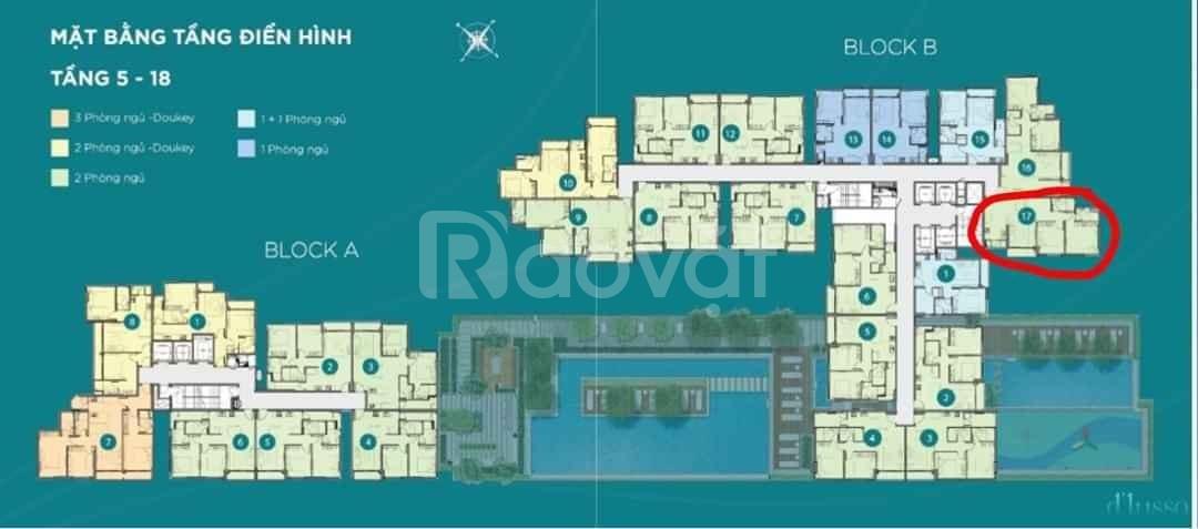 Chính chủ cần bán gấp căn hộ cao cấp B07-17 Quận 2, TP Hồ Chí Minh