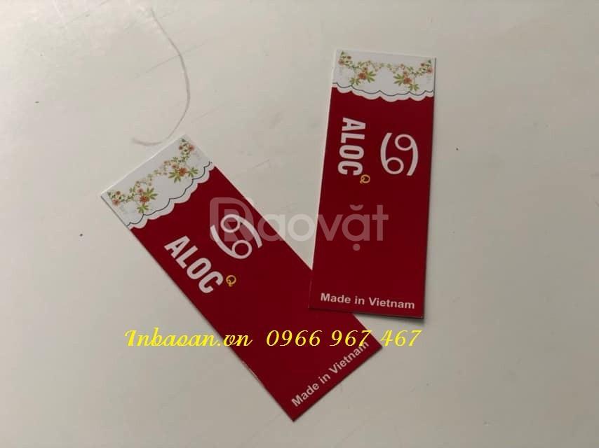 In mác giấy thời trang, địa chỉ in tag giấy, đặt in tag