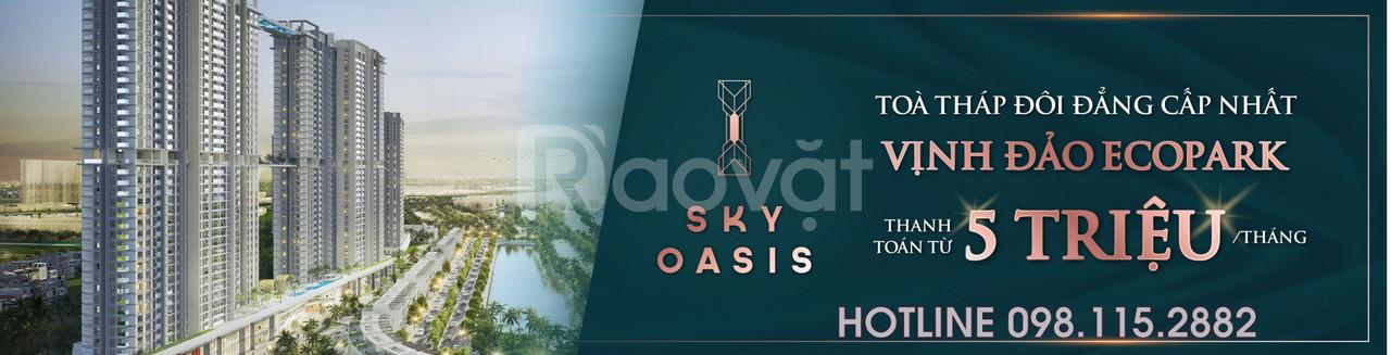 Căn 3 ngủ Sky Oasis chỉ từ 760 triệu DT 84m2, 97m2, HTLS 0%, CK 11%