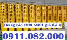 Chuyên bỏ sỉ các loại thùng rác nhựa giá rẻ- thùng rác 120L 240L 660L-